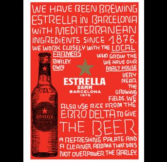 POS Estrella metallic poster