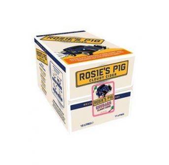 Westons Rosie Pig Rhubarb Cloudy Cider 10L Box