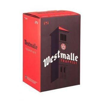 Westmalle gaveæske 2x330ml + glas 6 pr kolli