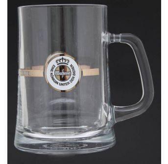 Glas Warsteiner krus 6x1L